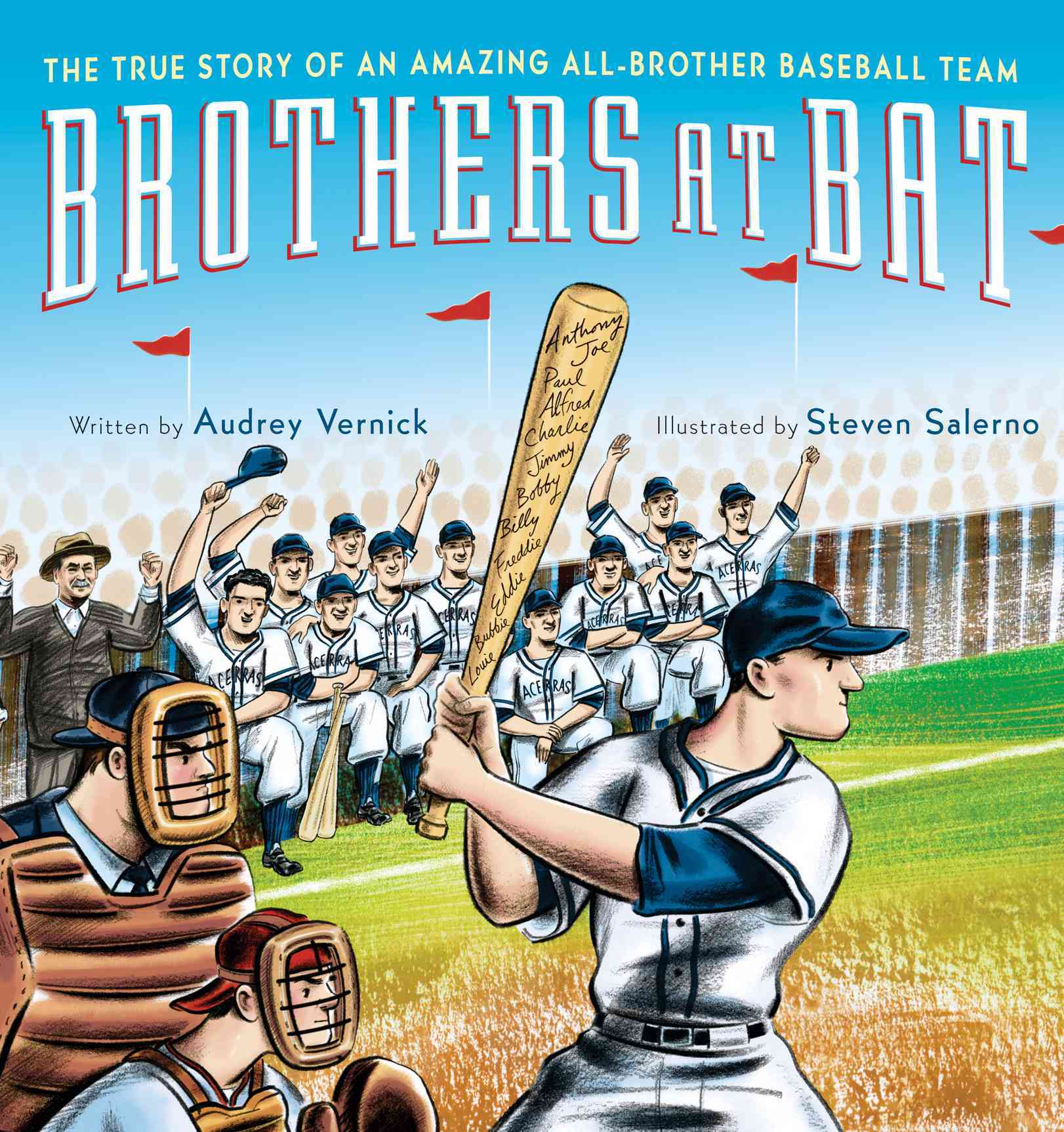 Brothers at Bat By Vernick, Audrey/ Salerno, Steven (ILT)